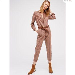 Free people mauve Fleetwood Flight suit size 6